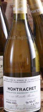 White wine, Montrachet 2003