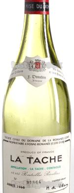 Red wine, La Tâche 1966
