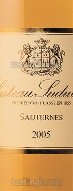 Sweet wine, Château Suduiraut 2005