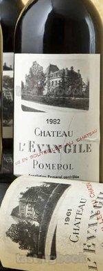 Red wine, Château L´Evangile 1961