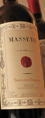 Red wine, Masseto 1999