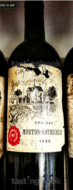 Red wine, Château Mouton-Rothschild 1896