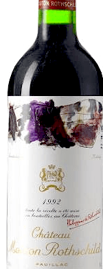Red wine, Château Mouton-Rothschild 1992