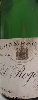 Sparkling wine, Pol Roger vintage 1961
