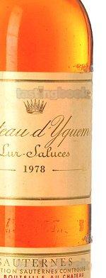 White wine, d'Yquem 1978