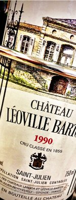 Red wine, Chateau Leoville-Barton 1990