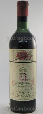 Red wine, Château Mouton-Rothschild 1956