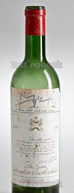 Red wine, Château Mouton-Rothschild 1962