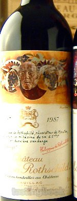 Red wine, Château Mouton-Rothschild 1987