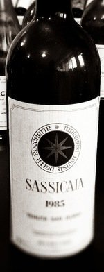 Red wine, Sassicaia 1985