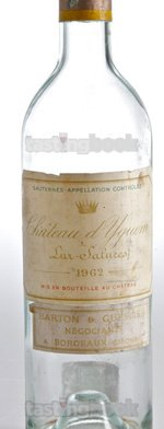 Sweet wine, d'Yquem 1962