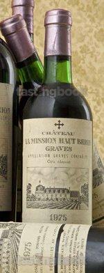 Red wine, La Mission Haut Brion 1975
