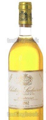 Sweet wine, Château Suduiraut 1982
