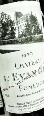 Red wine, Château L´Evangile 1990