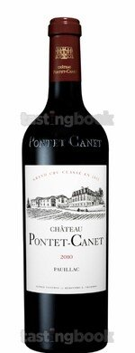 Red wine, Château Pontet Canet 2010