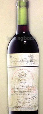 Red wine, Château Mouton-Rothschild 1950