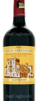 Red wine, Chateau Ducru-Beaucaillou 2005