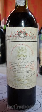 Red wine, Château Mouton-Rothschild 1952
