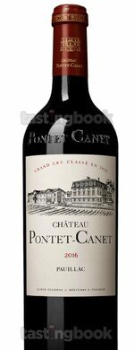 Red wine, Château Pontet Canet 2016