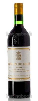 Red wine, Château Pichon Longueville Comtesse de Lalande 1970