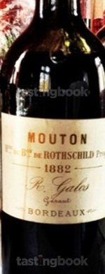 Red wine, Château Mouton-Rothschild 1882