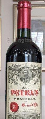 Red wine, Pétrus 2003