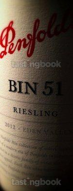 White wine, Penfolds Bin 51 Riesling 2012