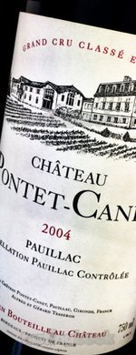 Red wine, Château Pontet Canet 2004