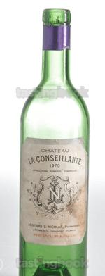 Red wine, Château La Conseillante 1990