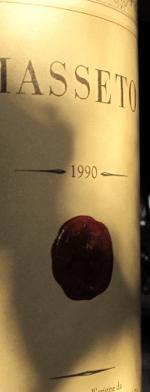 Red wine, Masseto 1990