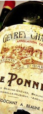 Red wine, Pierre Ponnelle Gevrey Chambertin 1961