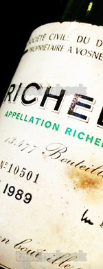 Red wine, Richebourg 1989
