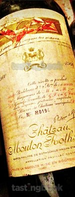 Red wine, Château Mouton-Rothschild 1960