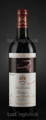 Red wine, Château Mouton-Rothschild 1990