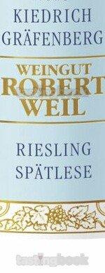 White wine, Kiedrich Gräfenberg  Riesling Spätlese  2015