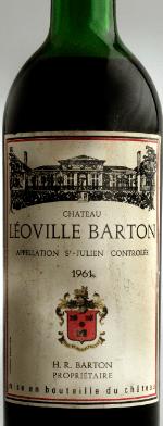 Red wine, Chateau Leoville-Barton 1961