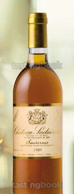Sweet wine, Château Suduiraut 1989