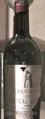 Red wine, Château Latour 1937