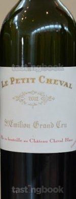 Red wine, Petit Cheval 2012
