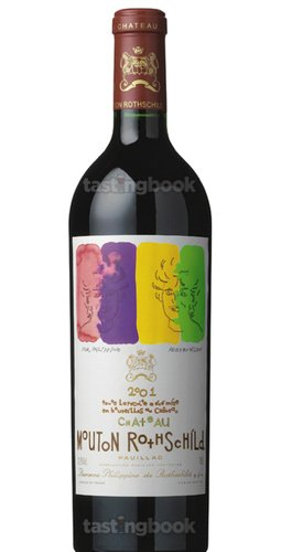 Red wine, Château Mouton-Rothschild 2001