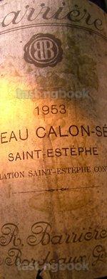 Red wine, Château Calon Ségur 1953