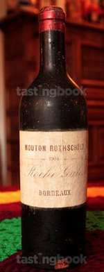 Red wine, Château Mouton-Rothschild 1904