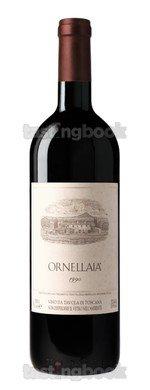 Red wine, Ornellaia 1990