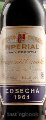 Red wine, Imperial Gran Reserva 1964