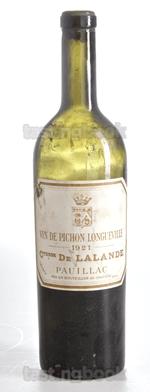 Red wine, Château Pichon Longueville Comtesse de Lalande 1921