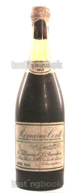 Red wine, Romanée Conti 1945