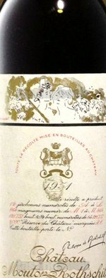 Red wine, Château Mouton-Rothschild 1951