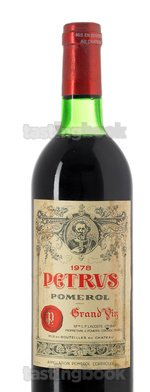 Red wine, Pétrus 1978