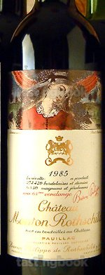 Red wine, Château Mouton-Rothschild 1985