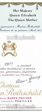 Red wine, Château Mouton-Rothschild 1977
